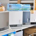 まもなく寒い時期を迎えるということで、様々なガス暖房器具が並ぶ 【写真をクリックで拡大】