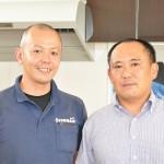 社長の高津宏一郎さん(右)と営業課サービス担当の大崎邦広さん(左) 【写真をクリックで拡大】